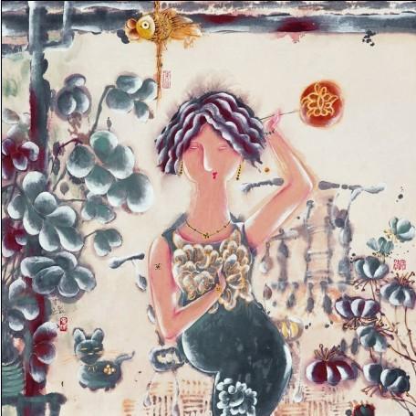厦门张雄书画院品读著名画家曹娜教授作品里的女人世界
