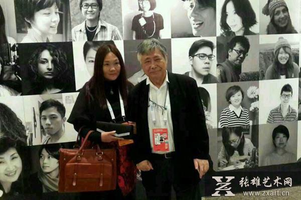 中国画家曹娜与日本物学研究会会长黑川雅之合影