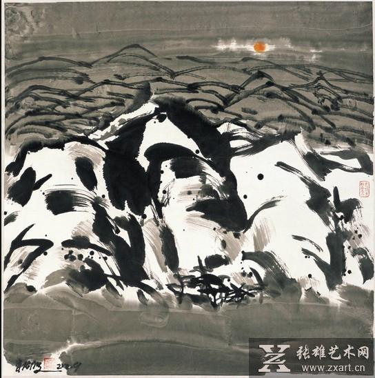 当代名家朱法鹏携精品画作亮相厦门海峡两岸文博会