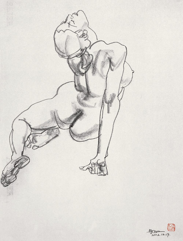 手绘人体全身图片