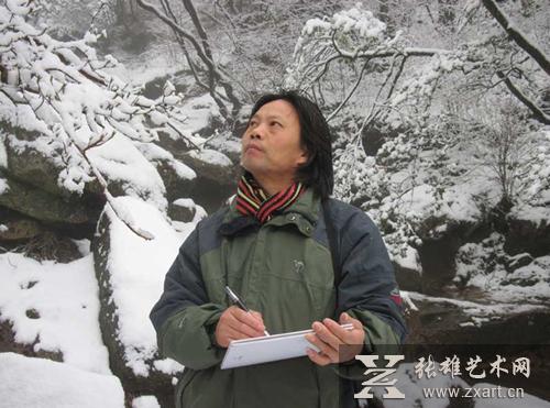 2014张东林密体山水画将亮相鹭岛