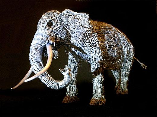 铁丝编织动物图片