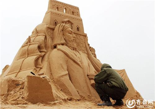 探营威海文登沙雕艺术节 30座世界文化奇观五一迎客