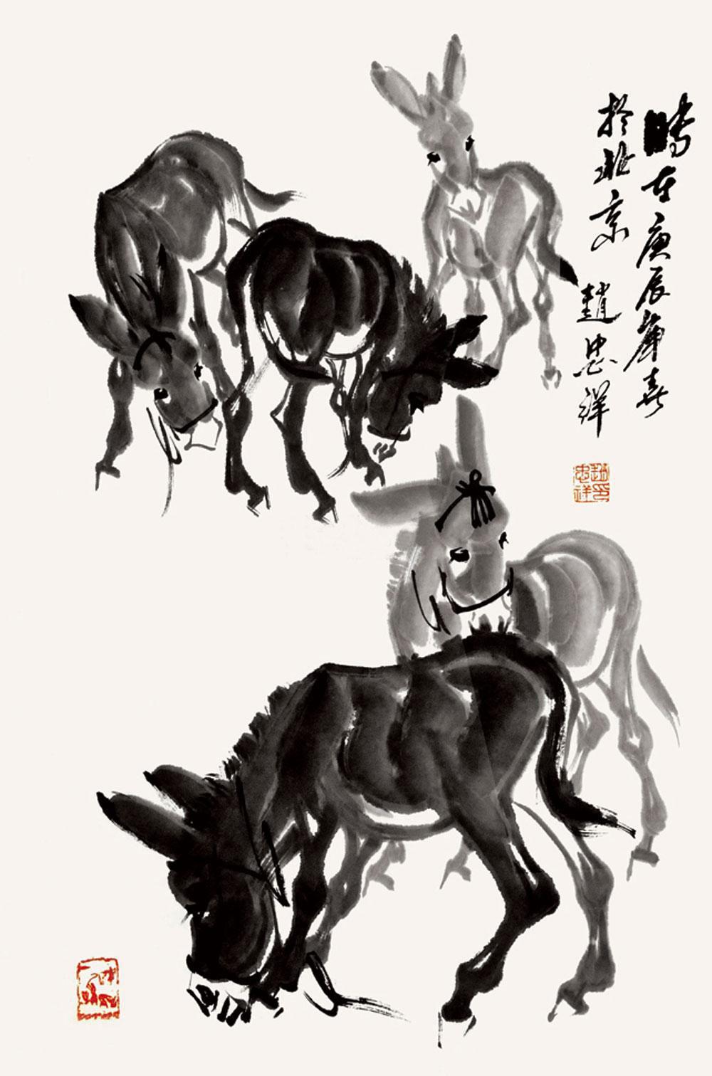 驴动画手绘素描