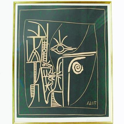 """毕加索的作品《脸》日前在""""淘宝春季拍卖会""""上1元起拍,截高清图片"""