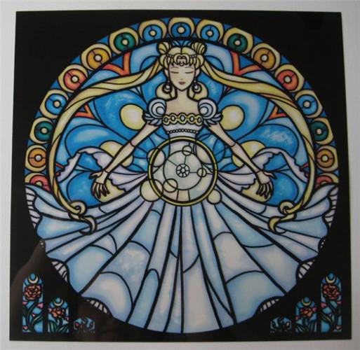 美设计师打造极富现代感动漫人物彩色玻璃窗贴纸