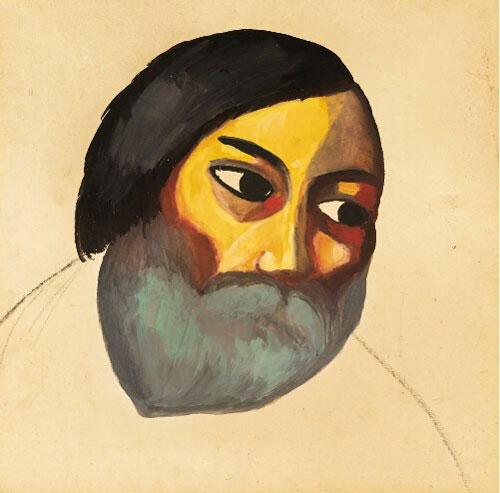 马列维基《农夫头像》 规格:46 x 46cm 成交价:2,098,500英镑(图源自苏富比)
