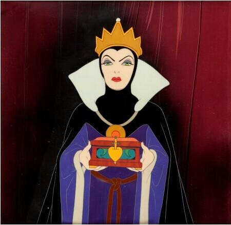 白雪公主的邪恶后妈无疑使得拍品中这一场景使人印象