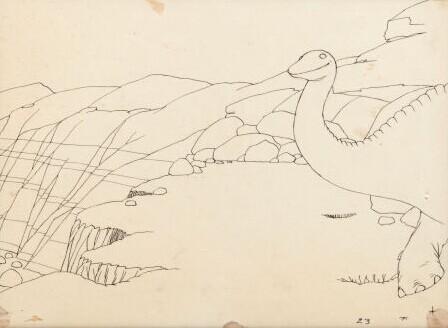 恐龙的画法步骤图片