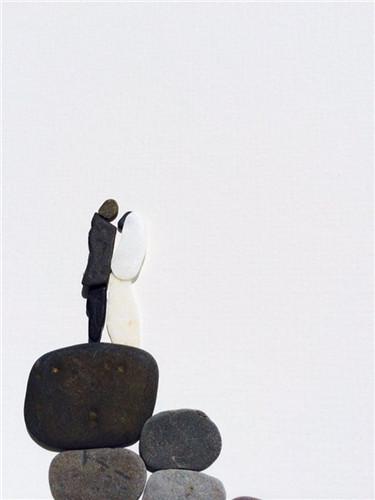 an创作 创意石头画