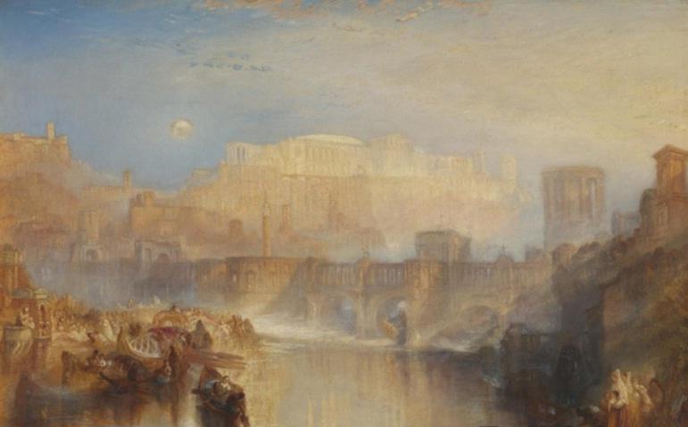国外水彩画大师作品-泰特美术馆展出大师透纳晚年绘画的新视角