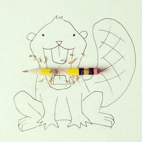 厄瓜多尔艺术家的简笔画:构思精巧