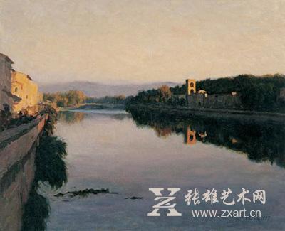靳尚谊《光照阿尔诺河》