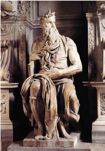 米开朗基罗的雕塑《摩西像》