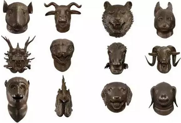 伦敦菲利普斯的当代艺术晚间拍卖中艾未未的铜制雕塑作品《十二兽首》