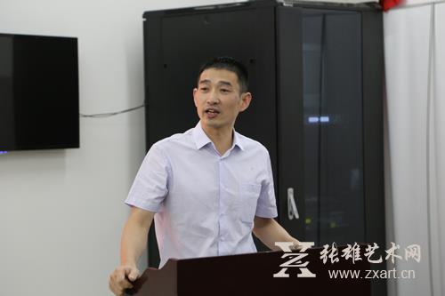 张雄艺术文化有限公司董事长在签约仪式上发言