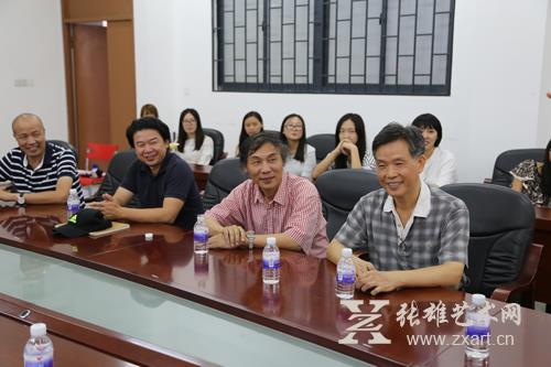 福州大学厦门工艺美术学院与张雄艺术文化有限公司结盟签约现场