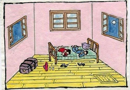 1949年中秋,平如海棠躺在床上吃着月饼.那时的他们并不知道,这是